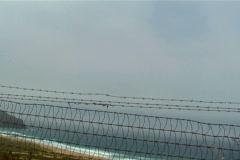 Fenced off beach V1 - NTSC Stock Footage