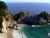 Waterfall on pristine beach V8 - NTSC Stock Footage