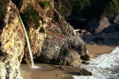Waterfall on pristine beach V7 - NTSC Stock Footage