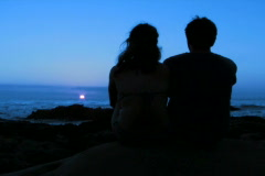 Stock Video Footage of Romantic couple at sunset V4 - NTSC