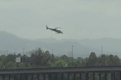 32 Fast Furious Fast 5 - Filming Crew Helicopter flying over ground filming crew Stock Footage