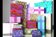 3710 Party Boxes Stock Footage