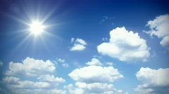 Sunny sky with clouds - part 1/2 Stock Footage