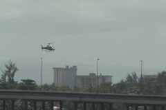 34 Fast Furious Fast 5 - Filming Crew Helicopter flying over ground filming crew Stock Footage