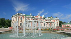 Fountains at Kadriorg Palace inTallinn, Estonia Stock Footage