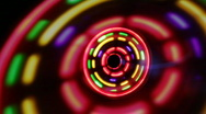 Stock Video Footage of LED flashing spinner