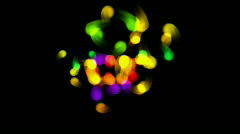 Color flying dot light fireworks background,abstract point particle backdrop. Stock Footage