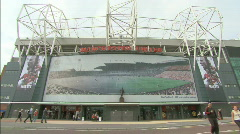 Manchester United Football Club / Old Trafford stadium soccer 1920x1080 Stock Footage