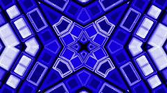 Abstract blue deform mosaics disco matrix geometry grid background. Stock Footage