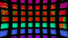 Color rectangle matrix disco background.plastic,circle,computer,creativity,engin Stock Footage