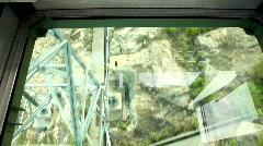 Funicular in HongKong. Crystal cabin Stock Footage