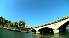 Sightseeing on the Seine Stock Footage