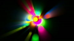 Color circle light flash neon ray aura beauty bright energy background. Stock Footage
