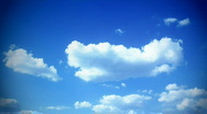 Summer sky - fast clouds timelapse Stock Footage