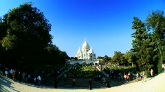 Sacre-Coeur, Paris in Wide-Angle Stock Footage