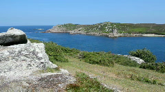 Looking from Bryher towards Tresco, Isles of Scilly. Stock Footage