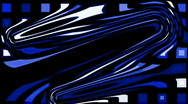Abstract blue morph shape pattern,fiber pulse energy texture. Stock Footage