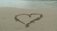 Stock Video Footage of Heart symbol on the beach
