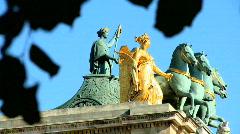 Louvre Museum Statues, Paris Stock Footage
