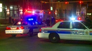 Crime and justice, police and ambulance, late night, #1 Stock Footage