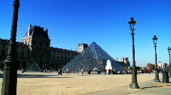 Louvre Museum, Paris Stock Footage