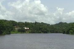 Artificial lake - Las Curias 1 Stock Footage