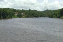 Artificial lake - Las Curias 2 Stock Footage