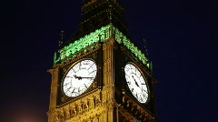 Big Ben Night HD Stock Footage