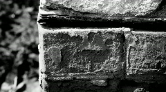 Old brickwork - angle of the wall of the old house - stock footage