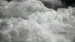 T203 clouds flythrough retro element plate Stock Footage