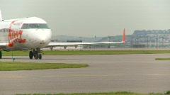 Stock Video Footage of aircraft, Canadair  Regional Jet CRJ taxi
