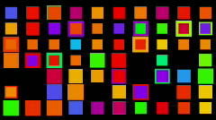 Square neon light array matrix background cube big data database backdrop. Stock Footage