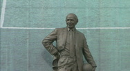 Stock Video Footage of Manchester United Football Club / Old Trafford stadium soccer statue 1920x1080