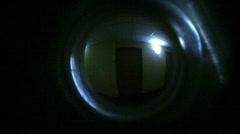 T203 peephole door hole hotel room Stock Footage