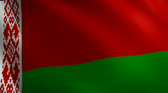 Belarus looping flag waving in the wind Stock Footage