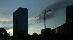 Clouds behind Construction Crane Time Lapse Stock Footage