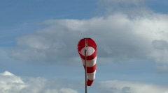 Windvane near an airport  Stock Footage