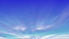 Blue Sky Fly through-4-30 - stock footage