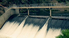 T203 water treatment damn flow fall waterfall Stock Footage