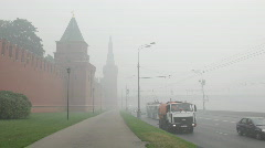 Smog in Moscow - stock footage