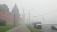 Smog in Moscow Stock Footage