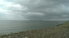 Time-lapse of cloud and ocean on the island of Gotland Stock Footage