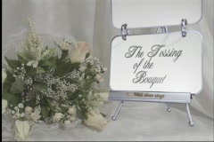 3111Cut The Tossing of the Bouquet Stock Footage