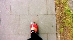 Legs walking Stock Footage