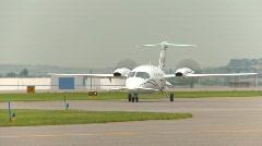 Aircraft, Piaggio P-180 Avanti, #1 taxi Stock Footage