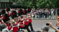 Stock Video Footage of Buckingham Palace Changing of Guard