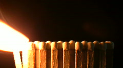 Burning matches Stock Footage