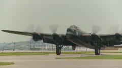 Aircraft,  WWII Lancaster, #38 taxi follow shot Stock Footage