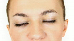 Woman's eye, close up Stock Footage
