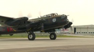 Aircraft,  WWII Lancaster bomber, #34 throttle up and idle Stock Footage